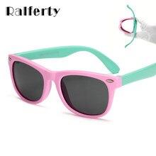 e2fdfbd0b Ralferty TR90 Flexível Crianças Óculos Polarizados Criança da Segurança Do  Bebê UV400 Coating Óculos de Sol
