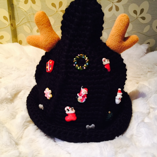 Kids Christmas Deer Antler Beanie Hats Bucket Beanies Cotton Knitting Caps Fall Winter Knitted Beanie Hat Cap Solid Folding