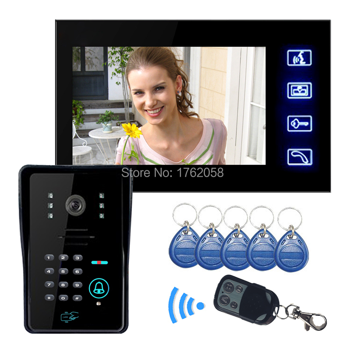 Brand New 7 inch LCD Video Door Phone Doorbell Intercom Touch Key System Camera Code Keypad Lock Remote - Green Lake Electronics Co., Ltd. store