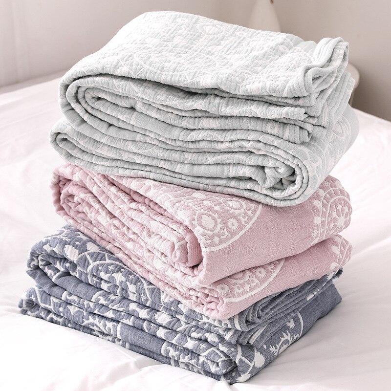 Junwell 100% coton mousseline couverture lit canapé voyage respirant Chic Mandala Style grand doux jeter couverture Para couverture
