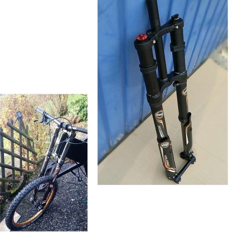 Fourche avant vélo électrique DNM USD-8 VTT électrique Suspension pneumatique fourches 203mm vtt rockshox descente fourche inversée
