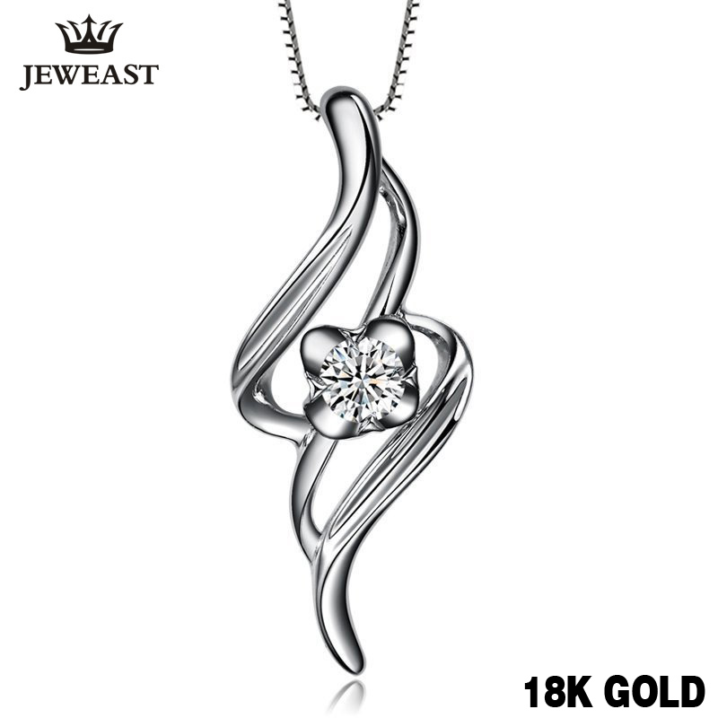 18K Gold Diamond Pendant Female women lover couple girl gift wedding party propose Fashion Simple Natural real new Handle Custom18K Gold Diamond Pendant Female women lover couple girl gift wedding party propose Fashion Simple Natural real new Handle Custom