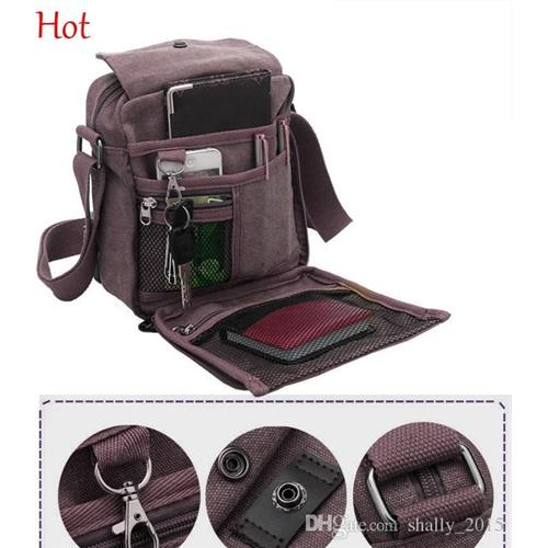 Quality Multifunction Canvas Bag Men Shoulder Bags Casual Travel ...