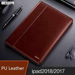 ESR PU Leather Case For apple ipad 9.7 inch 2017 Ultra Thin Folio Flip Stand Cover Auto Wake Sleep for ipad 9.7 inch 2018
