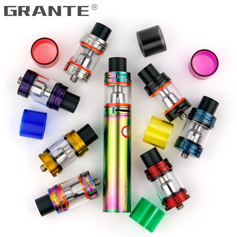 Grante TFV8 Big Baby Atomizer Drip Tip 810 mouthpiece With TFV8 Big Baby Glass Tube Tank Vape Coil Electronic Cigarettes