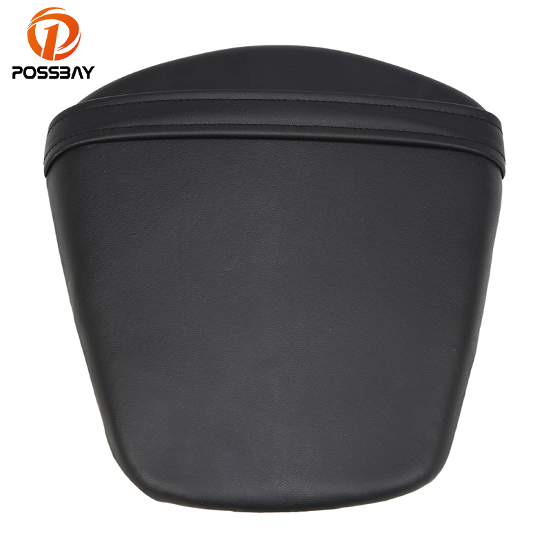 POSSBAY PU Leather Motorcycle Seat Pillion Rear Passenger Seat Cowl Motocross Cushion Seat Pad For Suzuki GSXR 600 750 K11 11 12