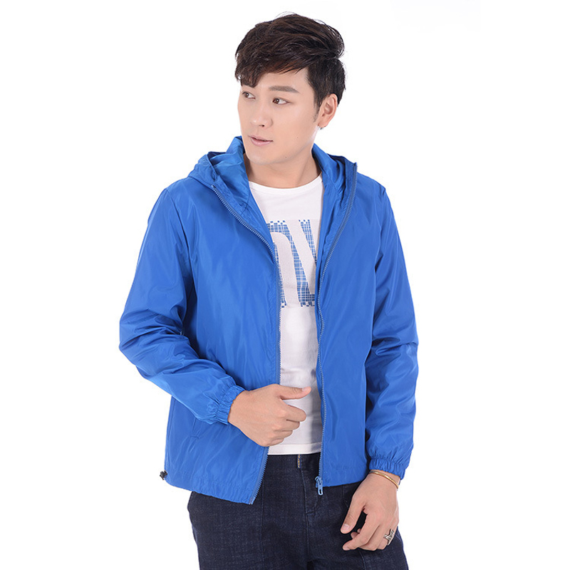 37897ad7121 Lovers  Clothes Bomber Jackets Womens Summer Casual Thin Jacket Coat Female  Solid Color Hooded Tops Sup Plus Size 7XL Windproof-in Basic Jackets from  ...