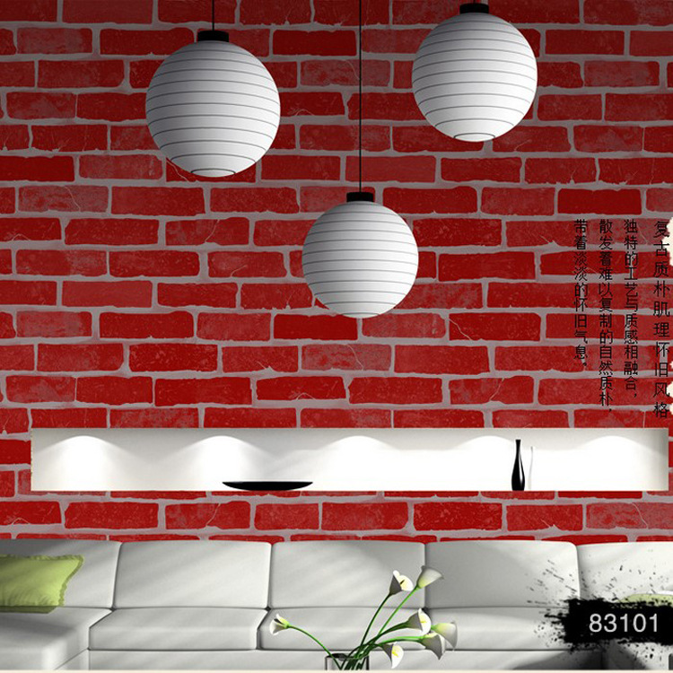 Modern Hot Selling Brick Textured Wallcoverings Vintage mural wallpaper wall paper &Wall Paper papel de parede 10 Meters акриловые обои hits wallcoverings vintage luxury sz001525