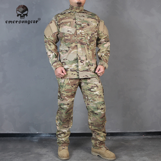 Emersongear 軍服 EMERSON bdu R6 マルチカム戦闘エアガン迷彩狩猟服 EM6889