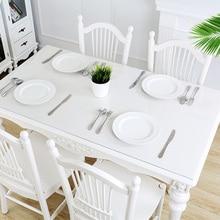 Туманная скатерть из ПВХ прозрачная Водонепроницаемая маслостойкая прямоугольный стол скатерти скатерть для обеденного стола защита рабочего стола для кухни