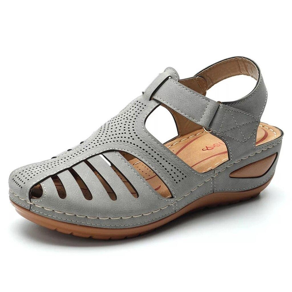 HTB1cpc0XrH1gK0jSZFwq6A7aXXaU Women's Sandals Shoes Ladies Girls Comfortable Ankle Hollow Round Toe Sandals Soft Sole Shoes Fashion Large Size Sandals Shoes