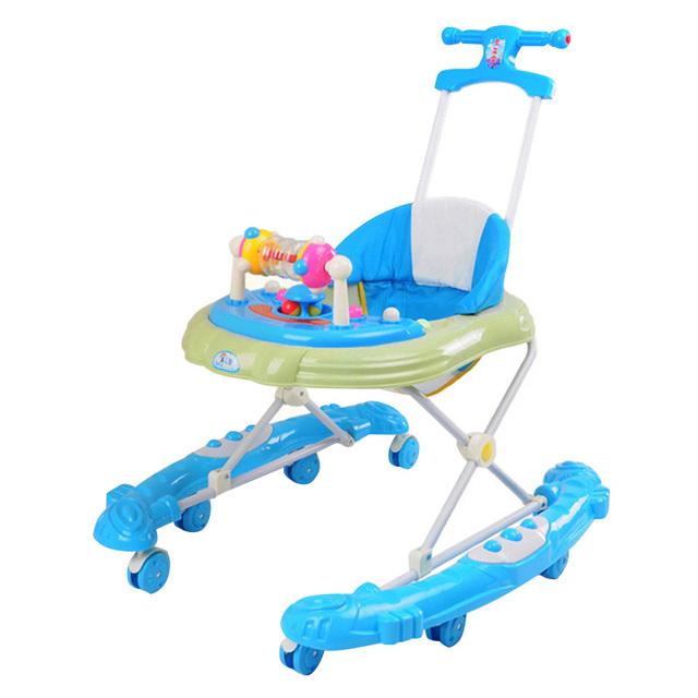 Venta caliente Bebé Walkes con Ruedas Durable Plegable Multifuncional Andador Cochecito Cochecito Portable Altura Ajustable