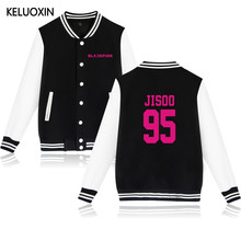 KELUOXIN Kpop Black Pink Album Baseball Jacket Women/Men Fans Support Sweatshirt LISA JENNIE JISOO Member Name Print Moletom(China)