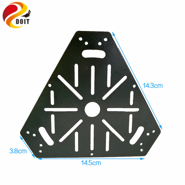 DOIT High hardness Steel Panel Tank Frame Chassis Plate Metal Chassis Robotic Car Remote Platform 16*14cm DIY Toy Parts