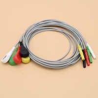 5-EKG/EKG din1.5 kabel holter, Leadwire elektrody snap dla jednorazowe elektrody pad, AHA/IEC.