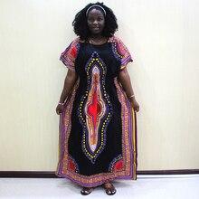 綿 100% Dashiki アフリカプリント Dashiki 見事なエレガントなアフリカの女性のドレス