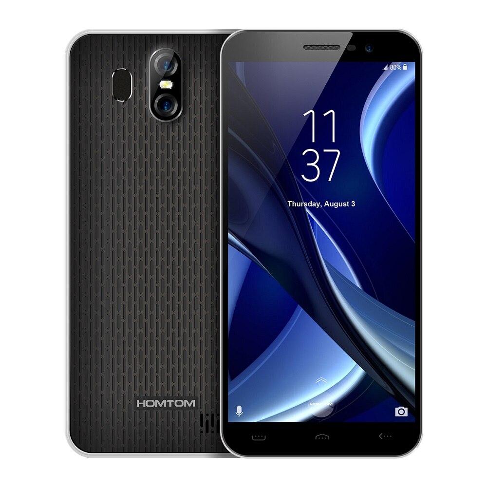Оригинальный HOMTOM S16 смартфон 3G оригинальный Android 7,0 MTK6580 Quad-Core 1. 3g Hz 2 ГБ Оперативная память 16 ГБ Встроенная память 8.0MP + 13.0MP Камера