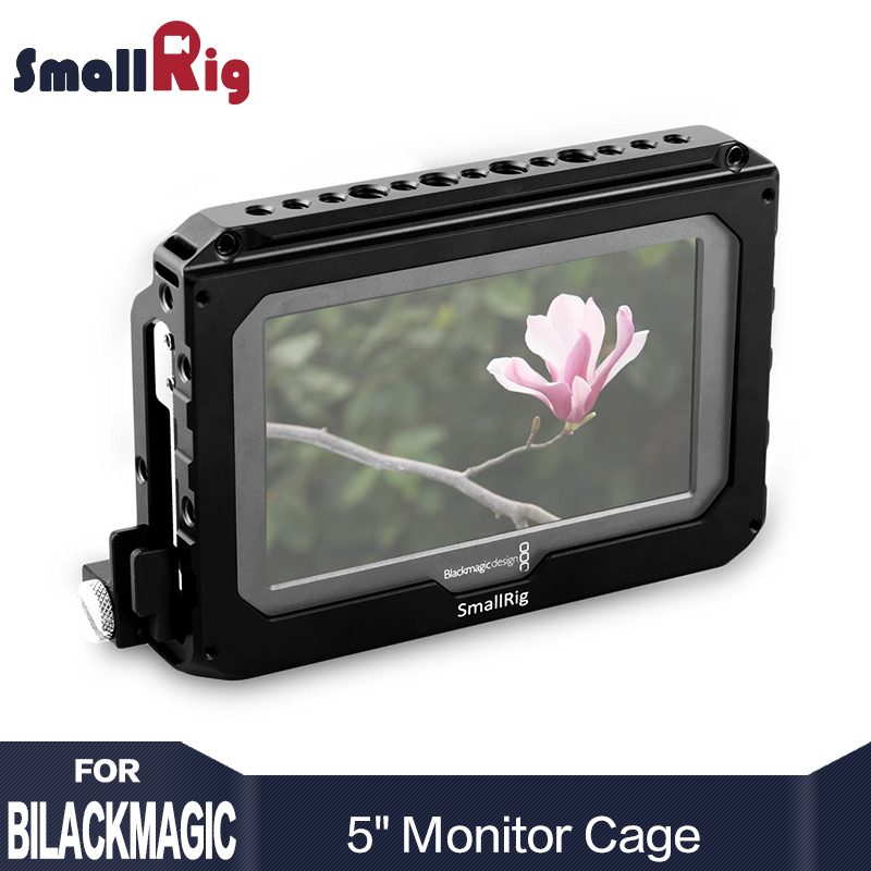 SmallRig Monitor Cage for Blackmagic Video Assist 5 inches All-in-one Monitor and HD Recorder with HDMI Lock-1726