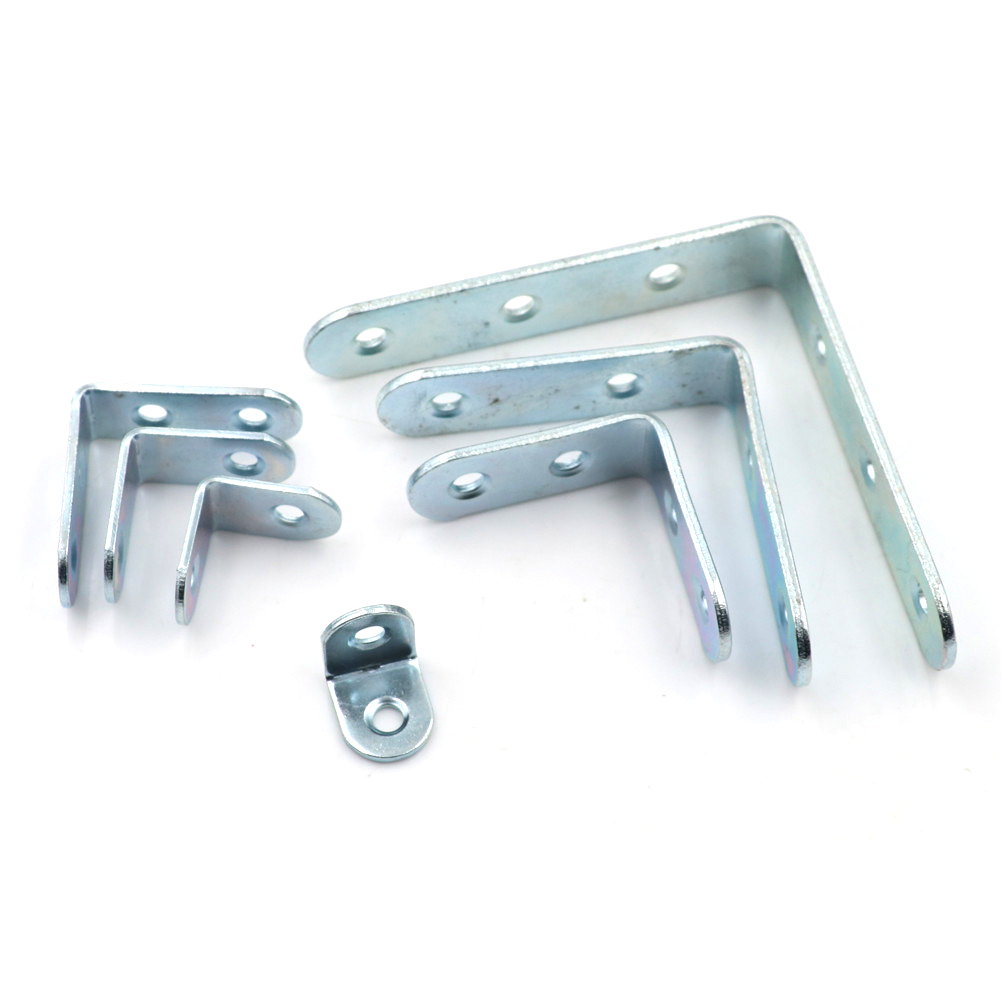 Stainless Steel L Joint Right Angle Bracket Corner Brace Furniture Hardware