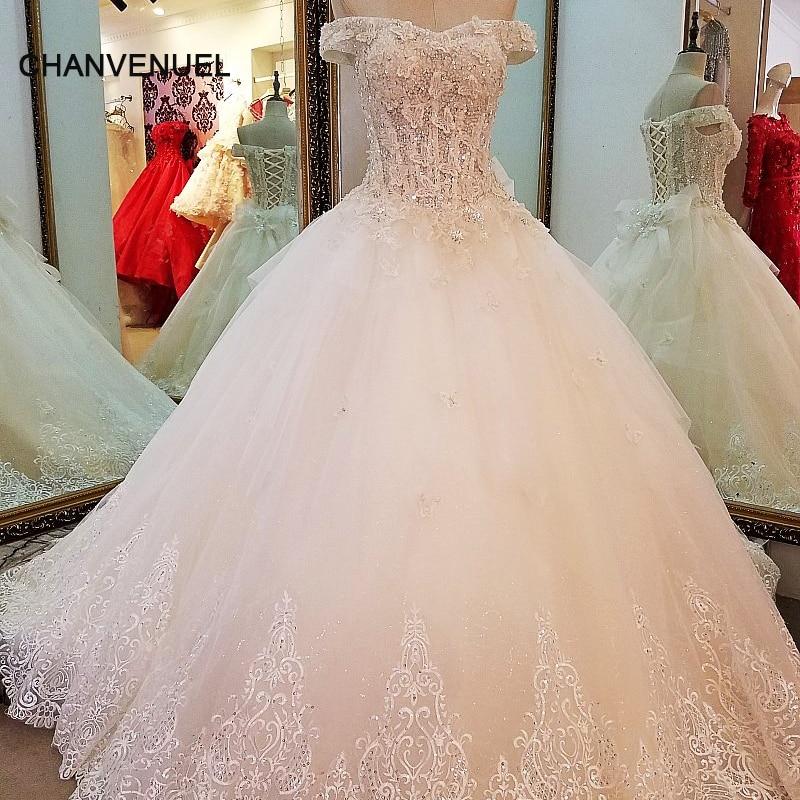 LS60765 pizzo abito da sposa semplice ball gown lace up indietro piano lunghezza abito da sposa 2017 robe de mariage foto reali dalla cina
