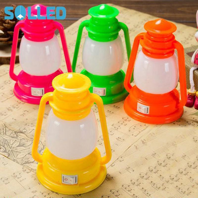 SOLLED Decoration Vintage Lamp Lantern LED Night Night Light Color Changing