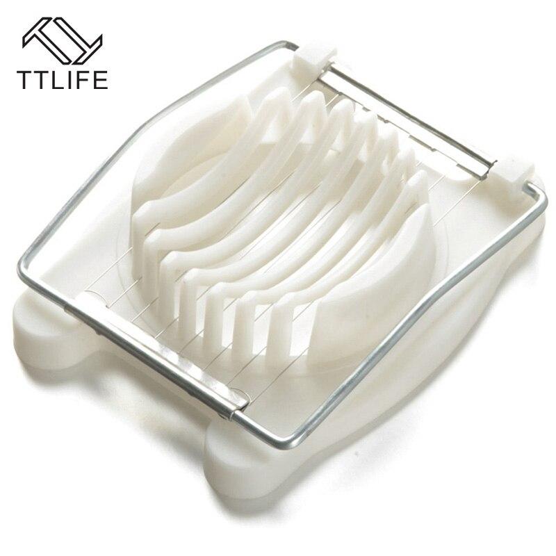 TTLIFE Egg Slicer Boiled Eggs Cutter Stainless Steel Cut New Multifunction Kitchen Sectione Cutter Edges Mold Ferramentas