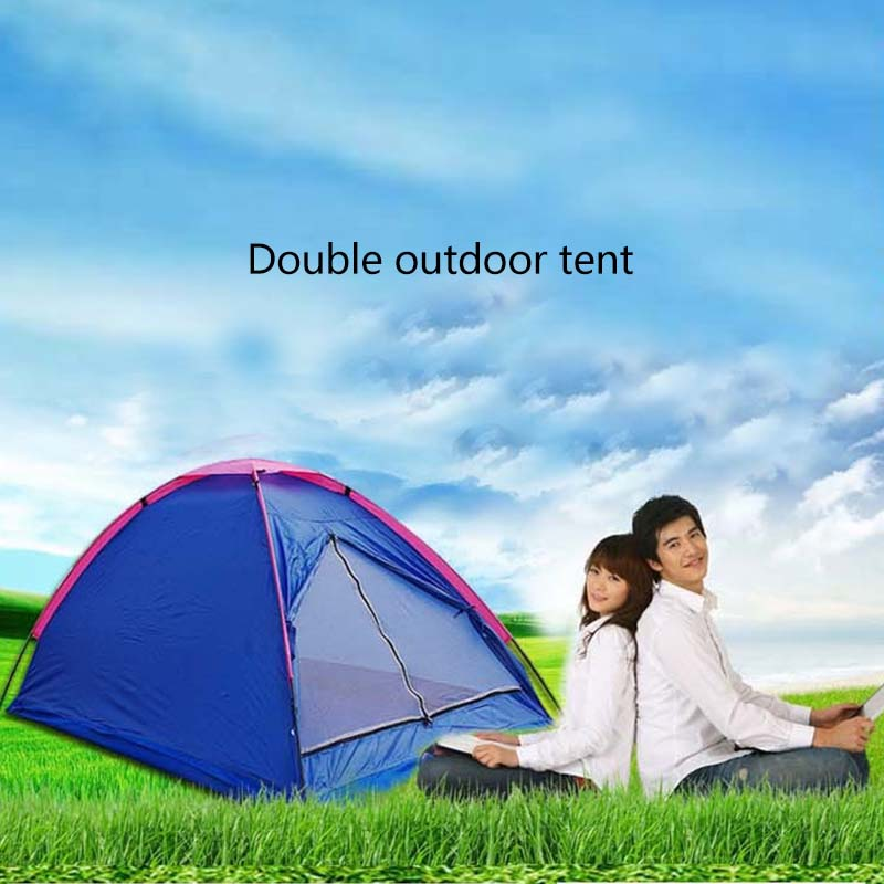 New Foldable Waterproof Oxford Cloth Single Layers Tent with Fiberglass Rod Outdoor Camping Climbing Picnic Sleeping Relax Tools