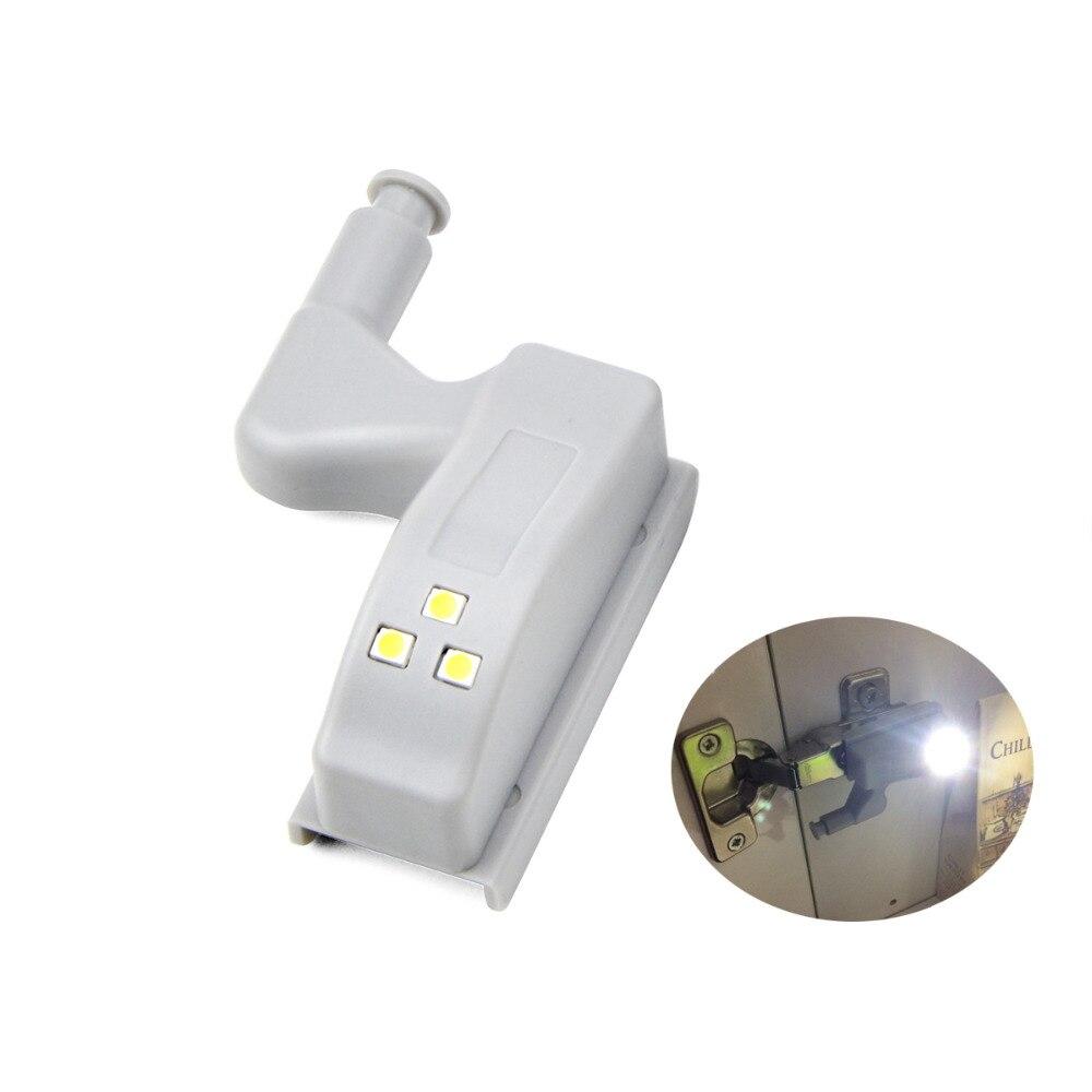 1/4 packs LED Under Cabinet light Inner Hinge led lamp Sensor For Kitchen Bedroom Closet Wardrobe Night Light Battery Operated mouse