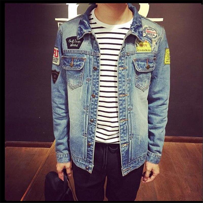 2015 Men Jeans Jackets Autumn Spring Jaqueta Masculina Hole