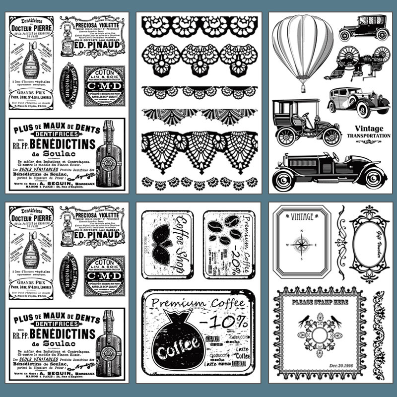 1Pcs Clear Silicone Stamps Seal Set Labelling Frames Lace Scrapbooking DIY Diary Decoration Making Photo Album Paper Card Craft plastic embossing foldet flower diy scrapbooking photo album card paper craft decoration template
