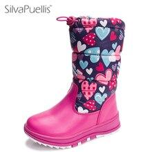 Silvapuellis обувь для девочки Новые Детские's Обувь русский детские Нескользящие теплые DNow Сапоги и ботинки для девочек модные Обувь для мальчиков ботинки для девочек Обувь для девочек резиновая