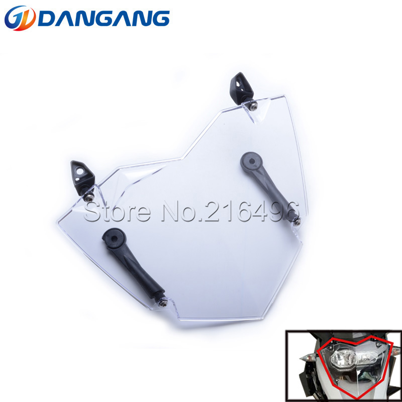 Free Shipping For BMW R 1200 GS LC Adventure Transparent Headlight Guard Headlight Protector