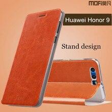 Honor 9 чехол Huawei Honor 9 Флип кожаный чехол Назад кремния телефон САППУ жесткий Оригинальный MOFI Huawei Honor 9 случае аксессуары 5.15