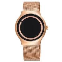 Men's Watches Luxury Top Brand Unisex Stainless Steel Watch Women Fashion Quartz Unique Design Ultra Thin Casual Clock Relojes