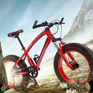 """Image 5 - Wolfs fang rower górski rower 7 /21 prędkości 2.0 """"X 4.0"""" rowerowy rower szosowy fat rowerowy hamulec tarczowy kobiety i dzieci śnieg rower"""