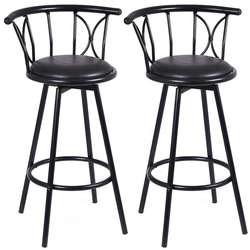 2 шт. современные черные высокие барные стулья поворотные стулья стальные высокие барные стулья для барный стул HW51779