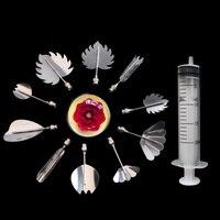 Wholesale 10 Sets (10 Pcs/set) Stainless Steel 3 D Gelatine Jelly Art Tools, Fondant Cake Decorating Sugarcraft Tools