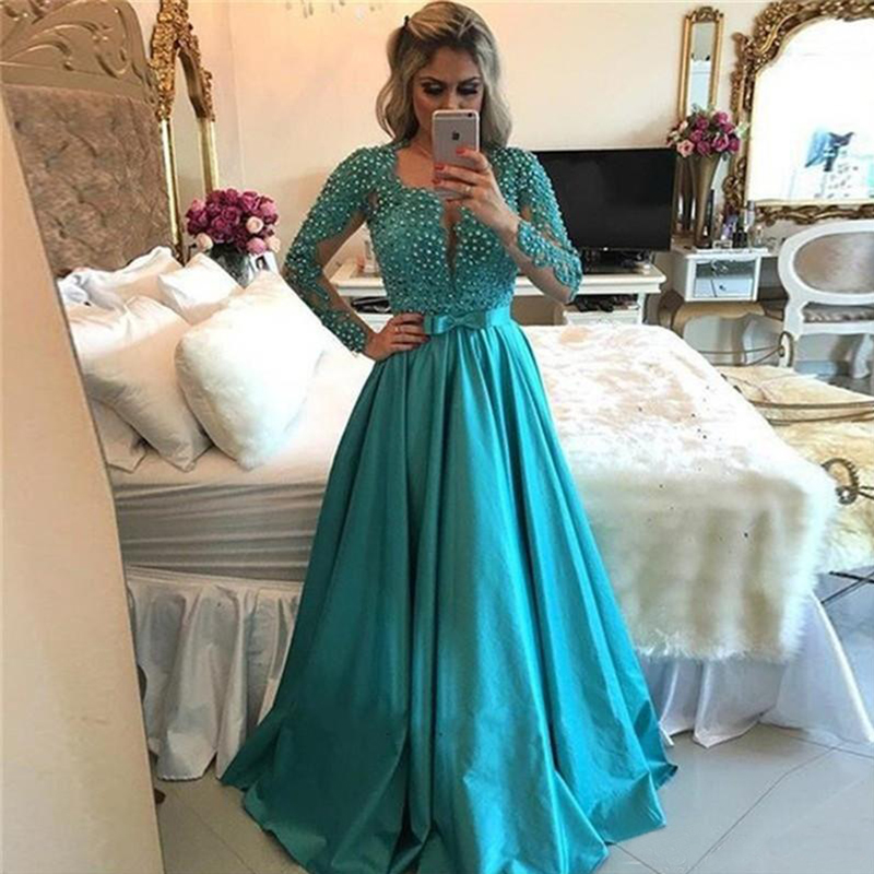 robe-de-soiree-2017-arabic-style-evening-prom-dresses-elegant-beaded-lace-long-sleeves-evening-gowns