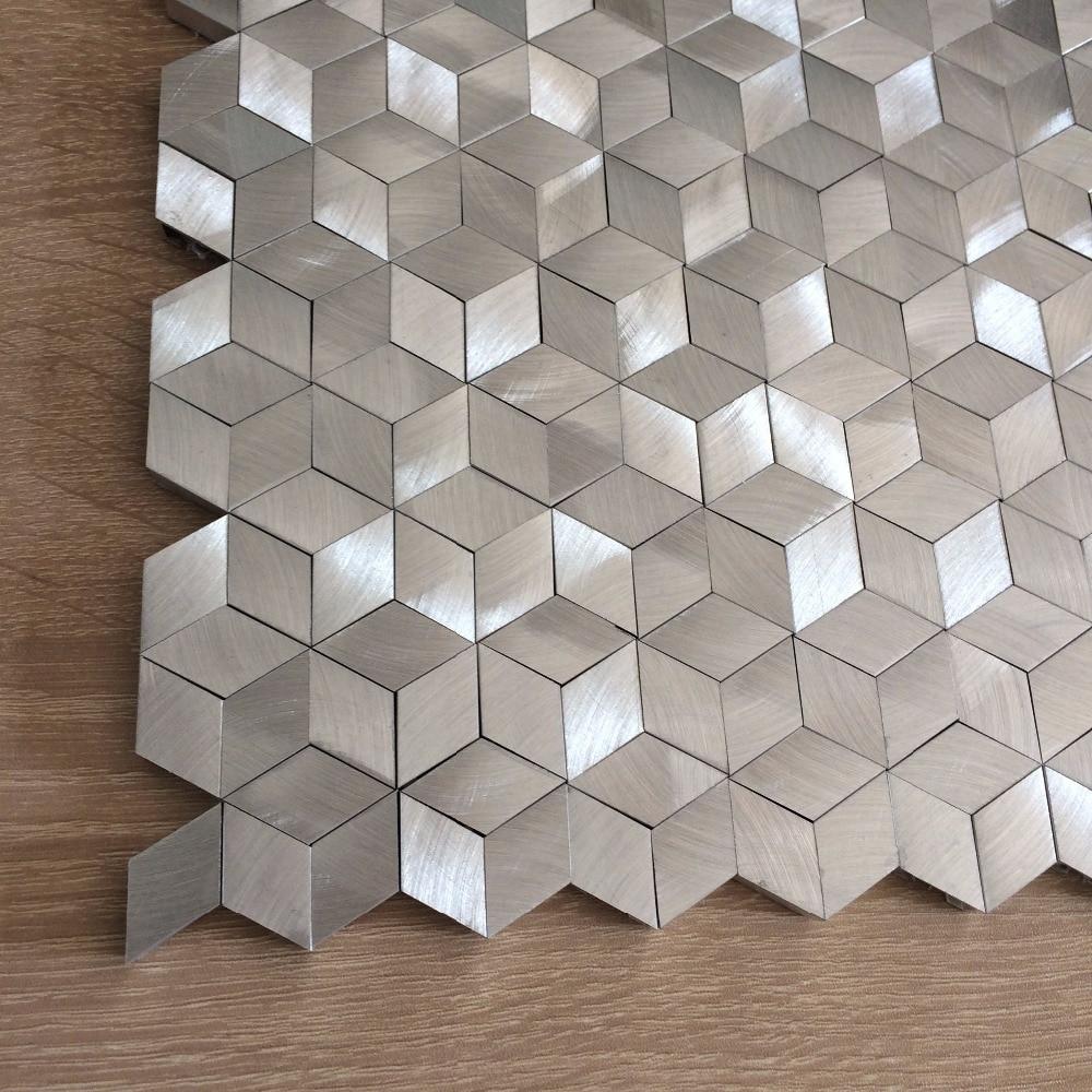 Atractivo Backsplash De La Cocina Patrón De Mosaico De Diamantes ...