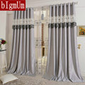 Embroidered  Curtains  For Living Room/Bedroom/Hotel Luxury Window Treatment/Drapes Pink/Purple/Gray/Yellow Customized Finished