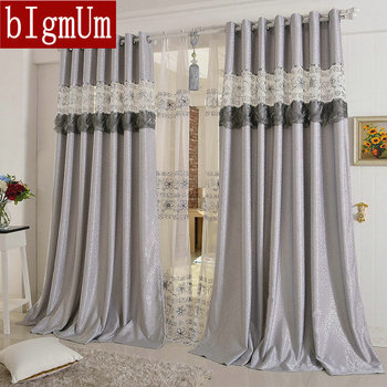 Embroidered Curtains For Living Room/Bedroom/Hotel Luxury Window Treatment/ Drapes Pink/Purple/Gray/Yellow Customized Finished