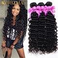 Rosa Hair Products Brazilian Virgin Deep Curly Human Hair,4Pcs Brazilian Deep Wave Bundles,Free Ship Kinky Curly Brazillian Hair