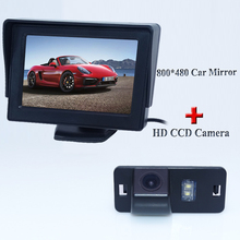 4.3 inch HD LED 800*480 Rear View Mirror Monitor+Special SONY CCD Car rear view camera for BMW 5 M5 E39 E60 night version