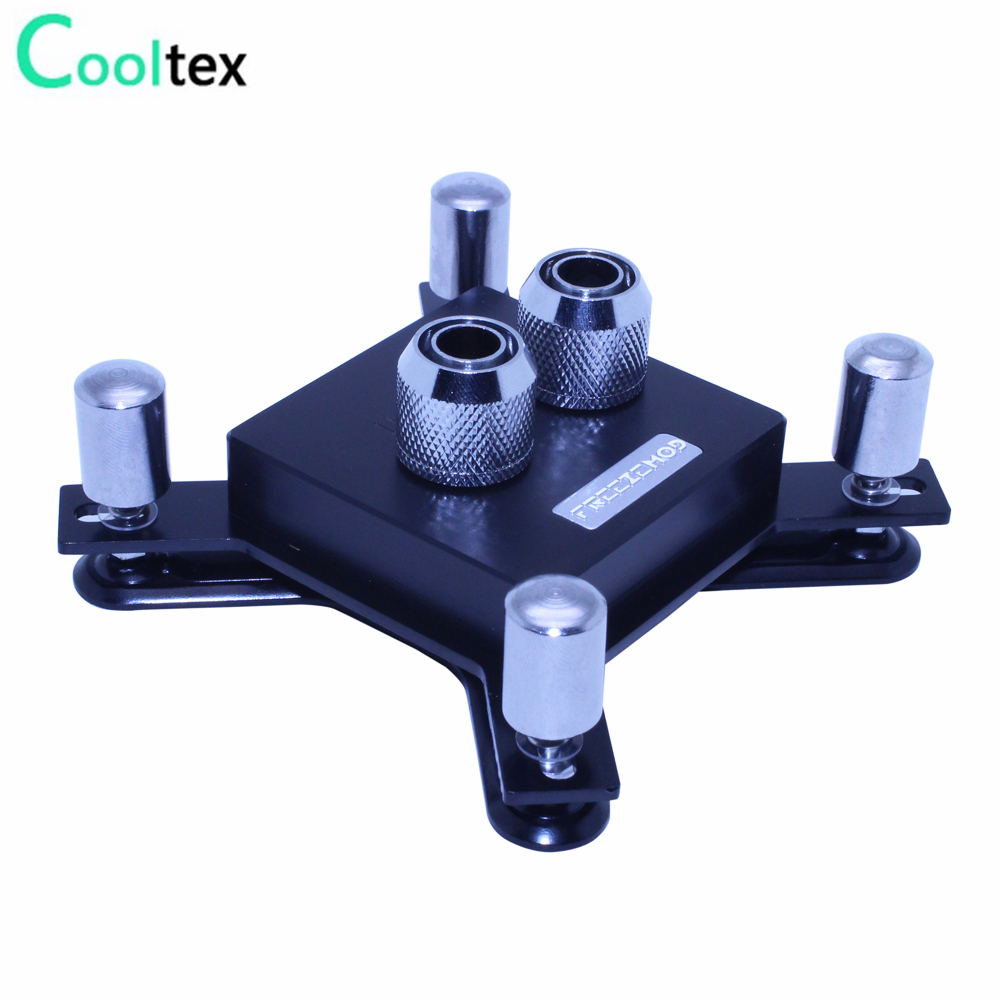 2017 new CPU Water cooling Waterblock water block radiator cooler for computer CPU intel LGA 775/115x/1366/2011 X99 High quality 1 5u server cpu cooler computer radiator copper heatsink for intel 1366 1356 active cooling