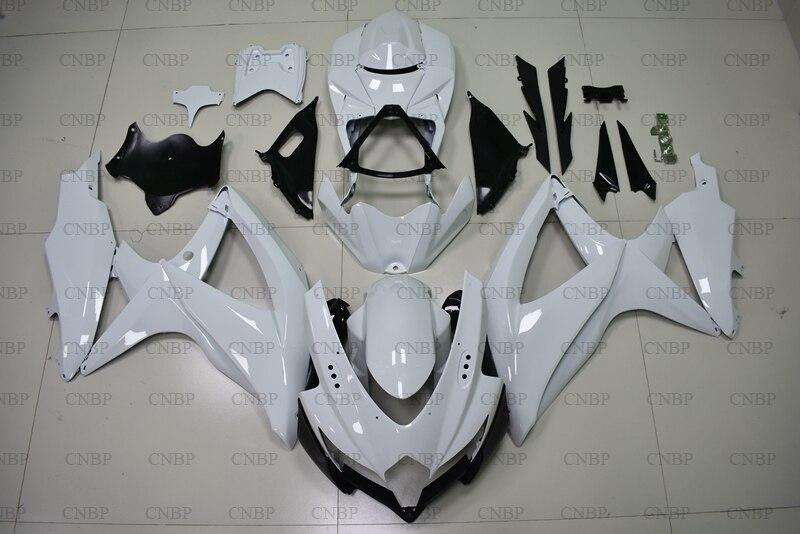 GSX-R600 08 09 Body Kits GSX R 750 2008 - 2010 K8 White Abs Fairing GSXR600 09 10 FairingGSX-R600 08 09 Body Kits GSX R 750 2008 - 2010 K8 White Abs Fairing GSXR600 09 10 Fairing