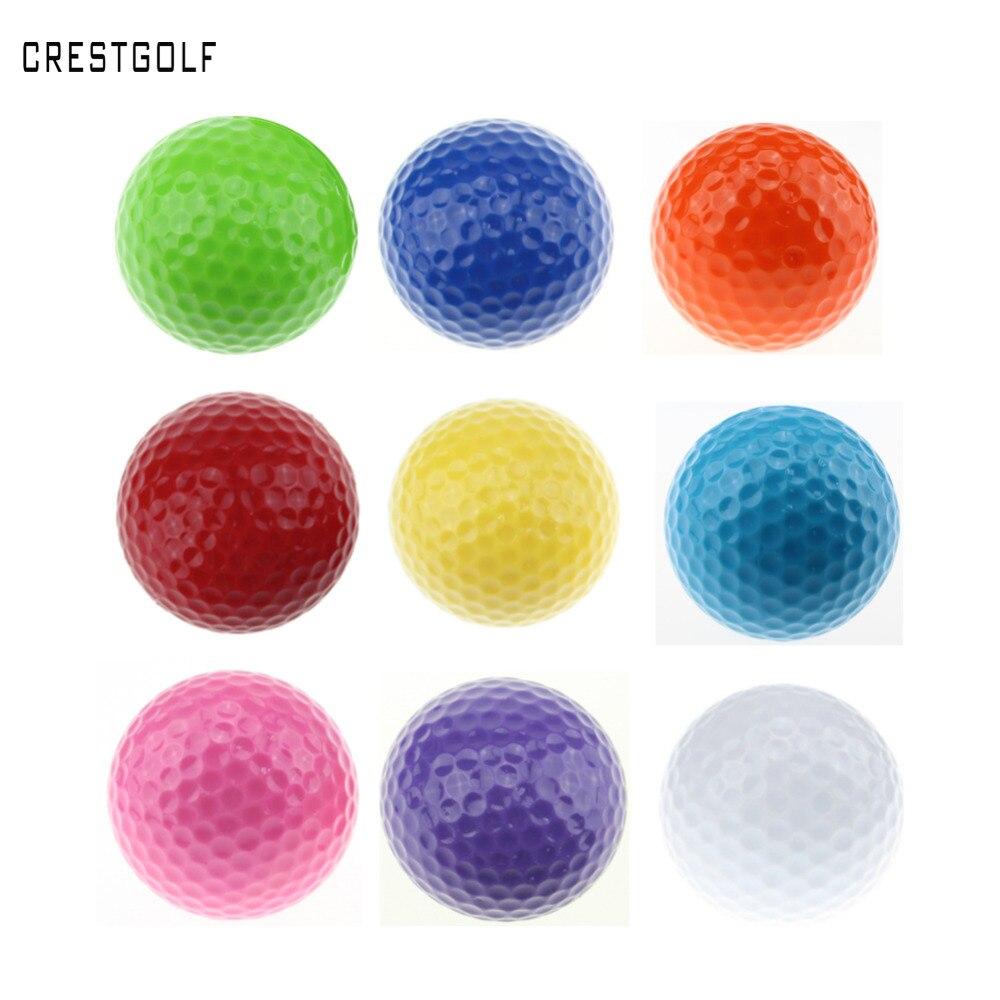 CRESTGOLF 6pcs Per pack Assorted Color Mini Golf Balls ...