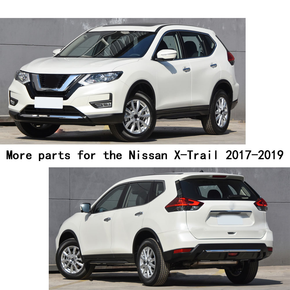 For nissan x trail xtrail t32 rogue 2017 2018 2019 car styling back rear pedal door scuff plate frame outside threshold trunk in car stickers from