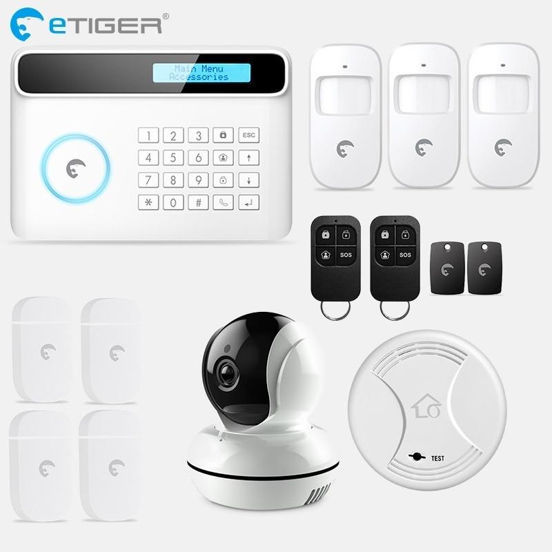 eTiger S4 Landline / GSM Alarm System Wireless Home Security GSM Alarm systems sensor kit big discount etiger pstn gsm alarm system home smart alarm s4 security alarm system with ten language menu