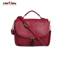 2017 Embossed Composite Leather Women Handbag Preppy Style Solid Zipper Women Messenger Bag Retro England Style