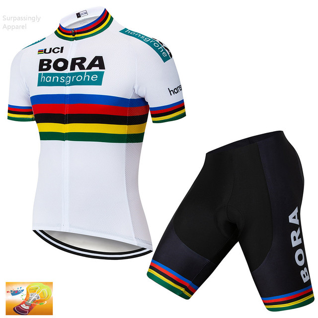 2018 Hot Pro Team Men Summer Bicycling Maillot Wear BORA hansgrohe Cycling  Jersey 16D GEL Pad d9aae0dad